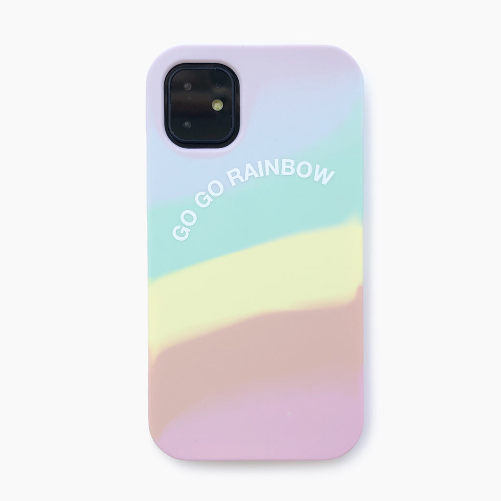 iPhone 11 Simple Case - Go Go Rainbow (Pastel)