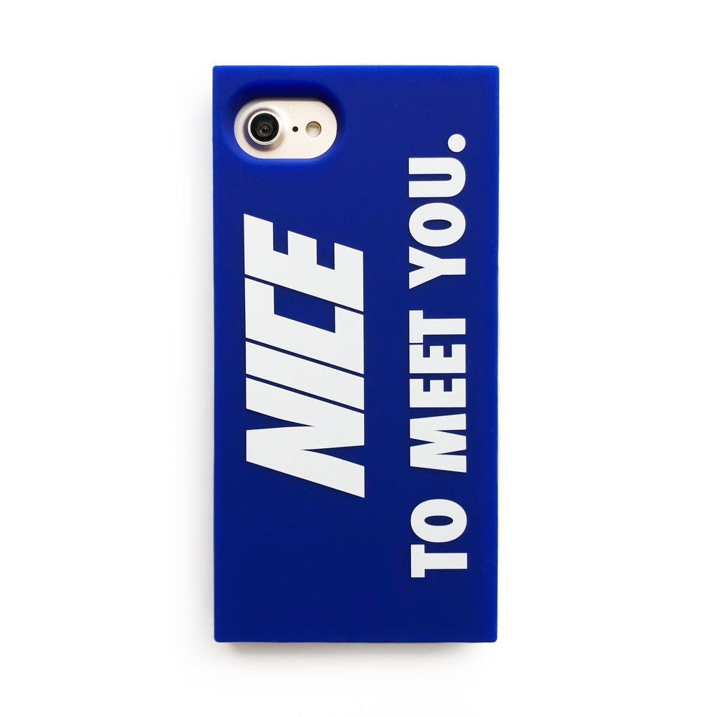 iPhone SE/7/8 Simple Case - Nice to Meet You (Blue)