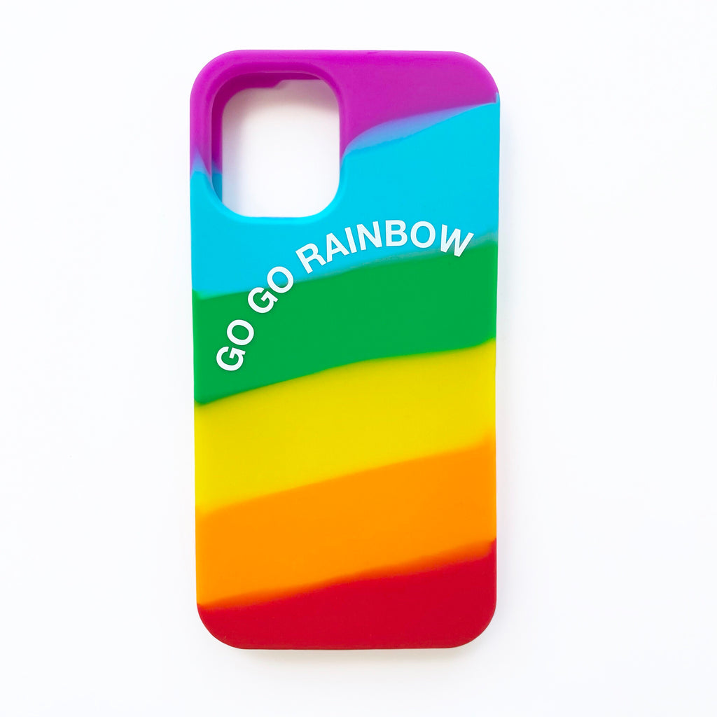 iPhone 12 Mini Simple Case - Go Go Rainbow