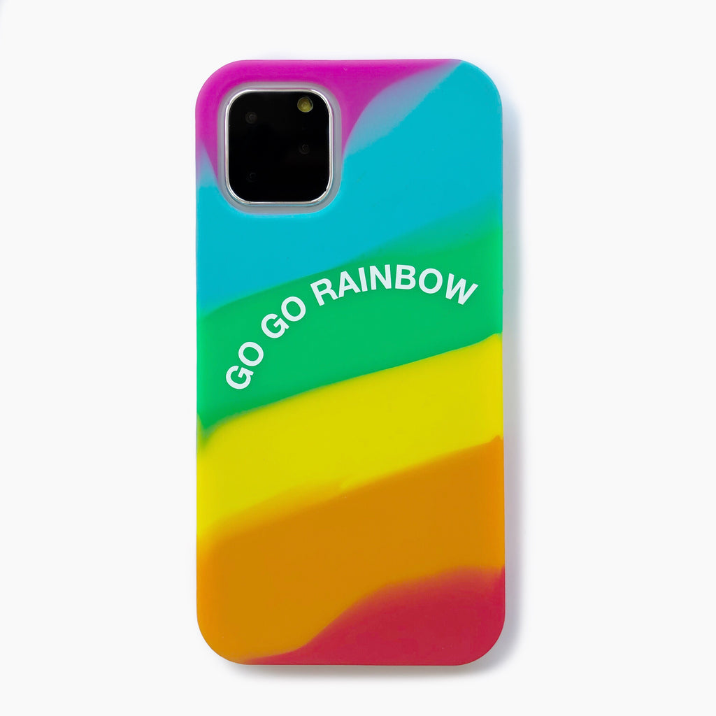 iPhone 11 Pro Simple Case - Go Go Rainbow (Bright)