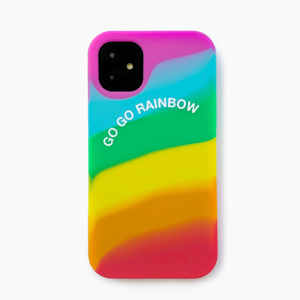 iPhone 11 Simple Case - Go Go Rainbow (Bright)