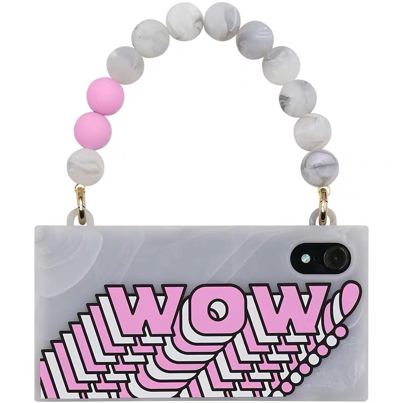 iPhone XR Marble Handbag Case - (WOW/Pink)