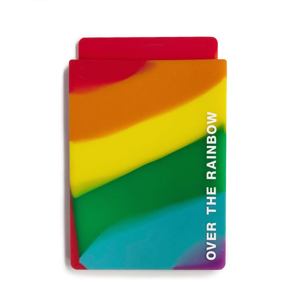 Removable Sticker Card Case - Rainbow