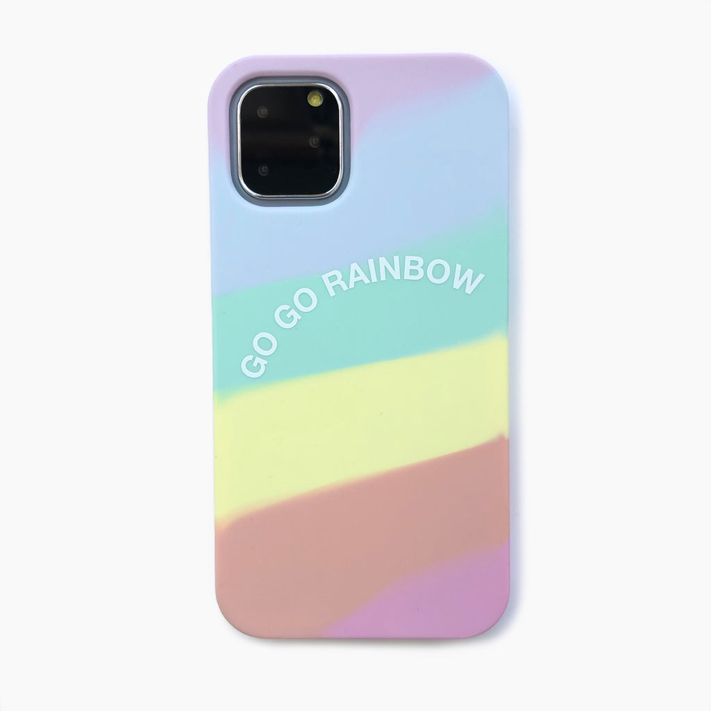 iPhone 11 Pro Simple Case - Go Go Rainbow (Pastel)