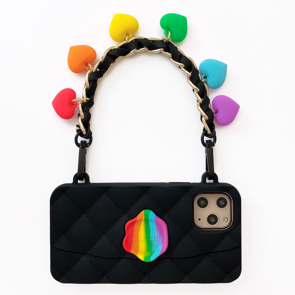 iPhone 11 Pro Rainbow and Black Seal Stamped Case