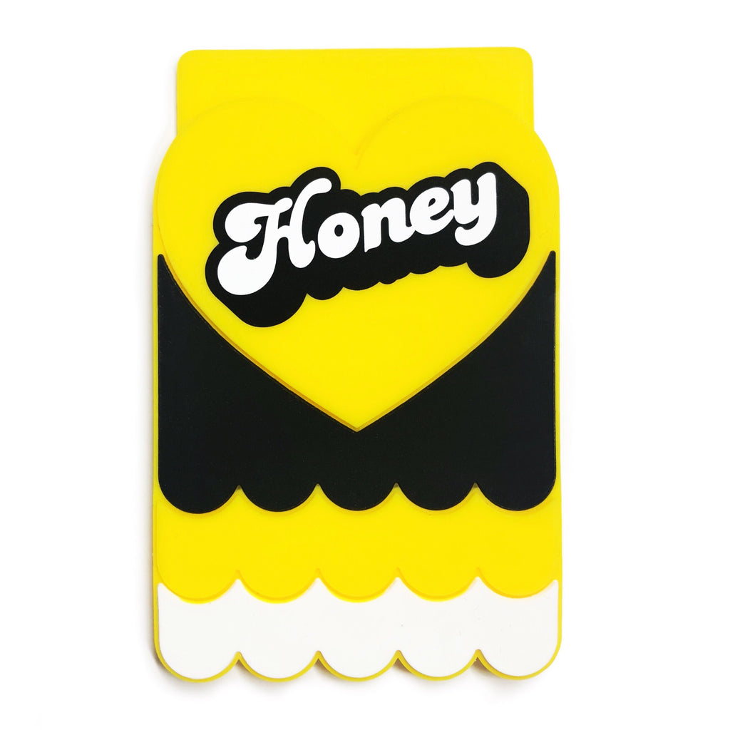 Removable Sticker Card Case - HONEY
