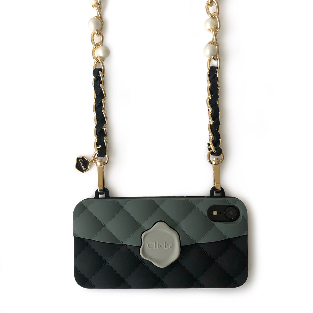 LIMITED iPhone Seal Stamped Case with Long Pearl Celebrity Strap