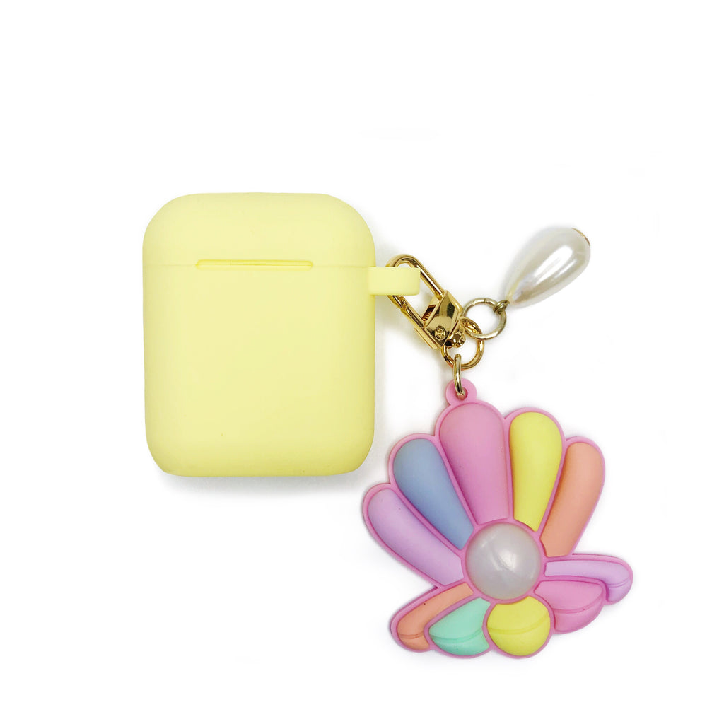 Yellow AirPods Case - Sea Shell with Pearl