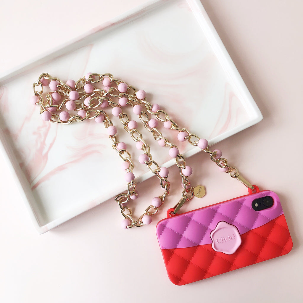 Long Sienna Strap - 125cm (Pearl Pink)