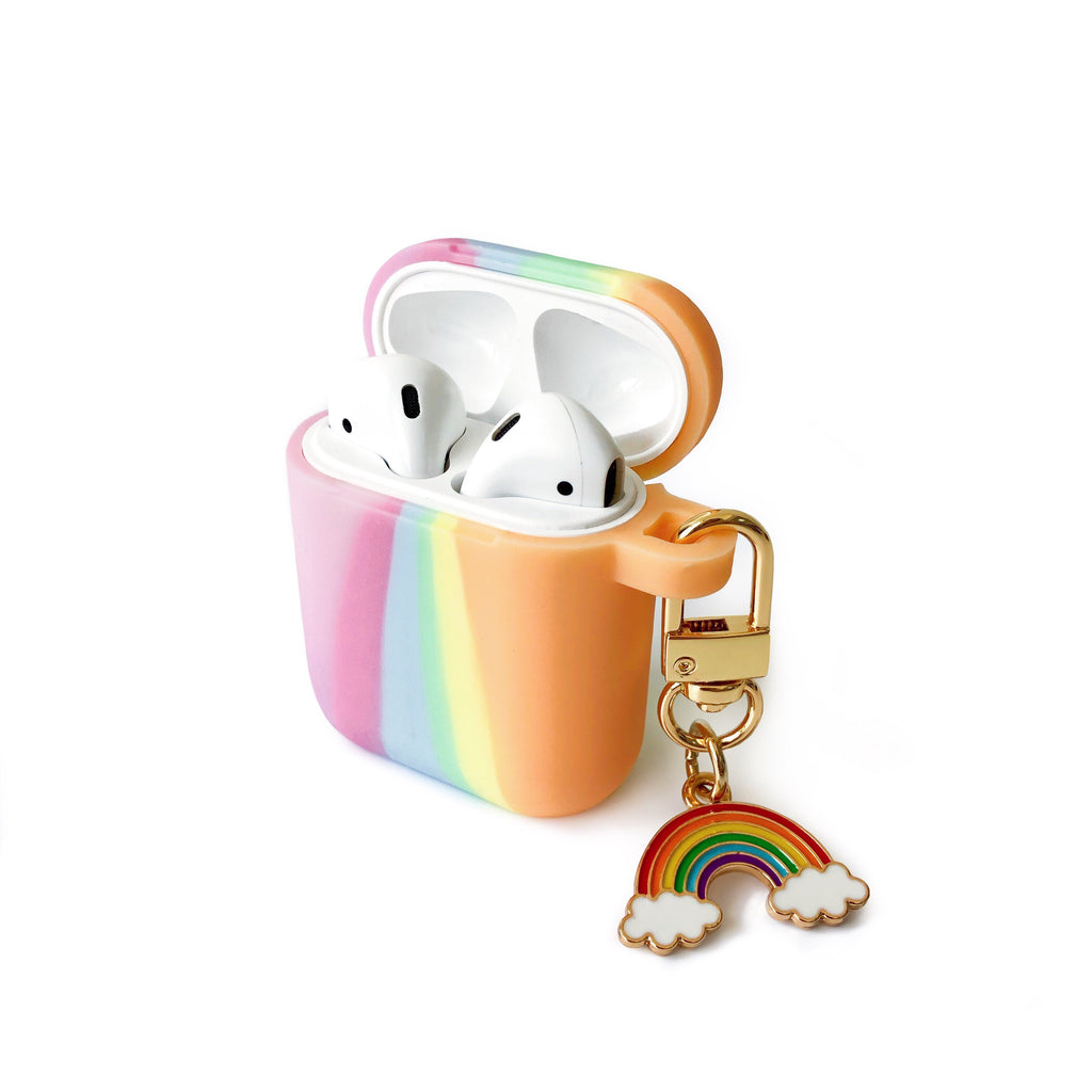 Tie Dye AirPods Case with Rainbow Charm