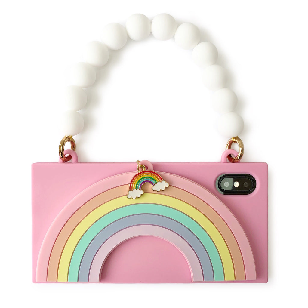 iPhone XS Max - Pink Rainbow Handbag Case