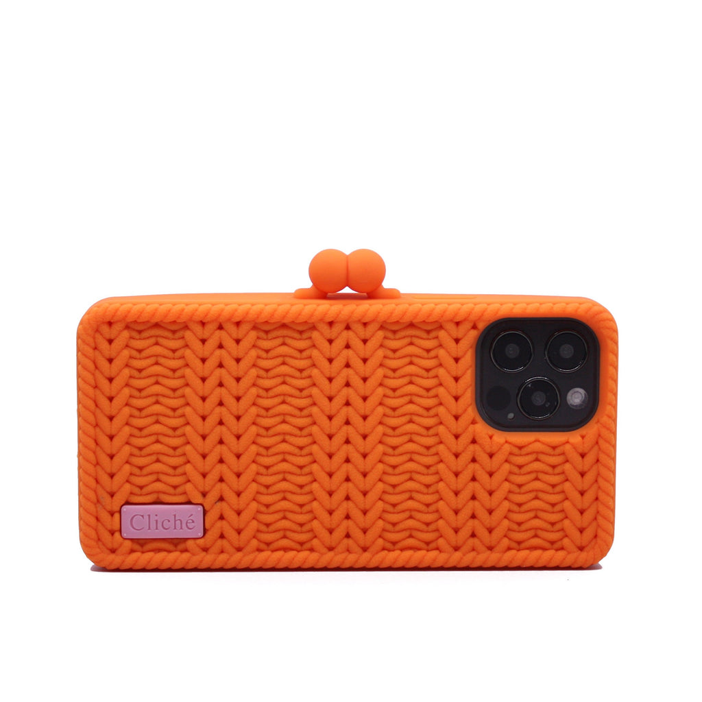 iPhone 12 Pro Knitted Case (Orange)