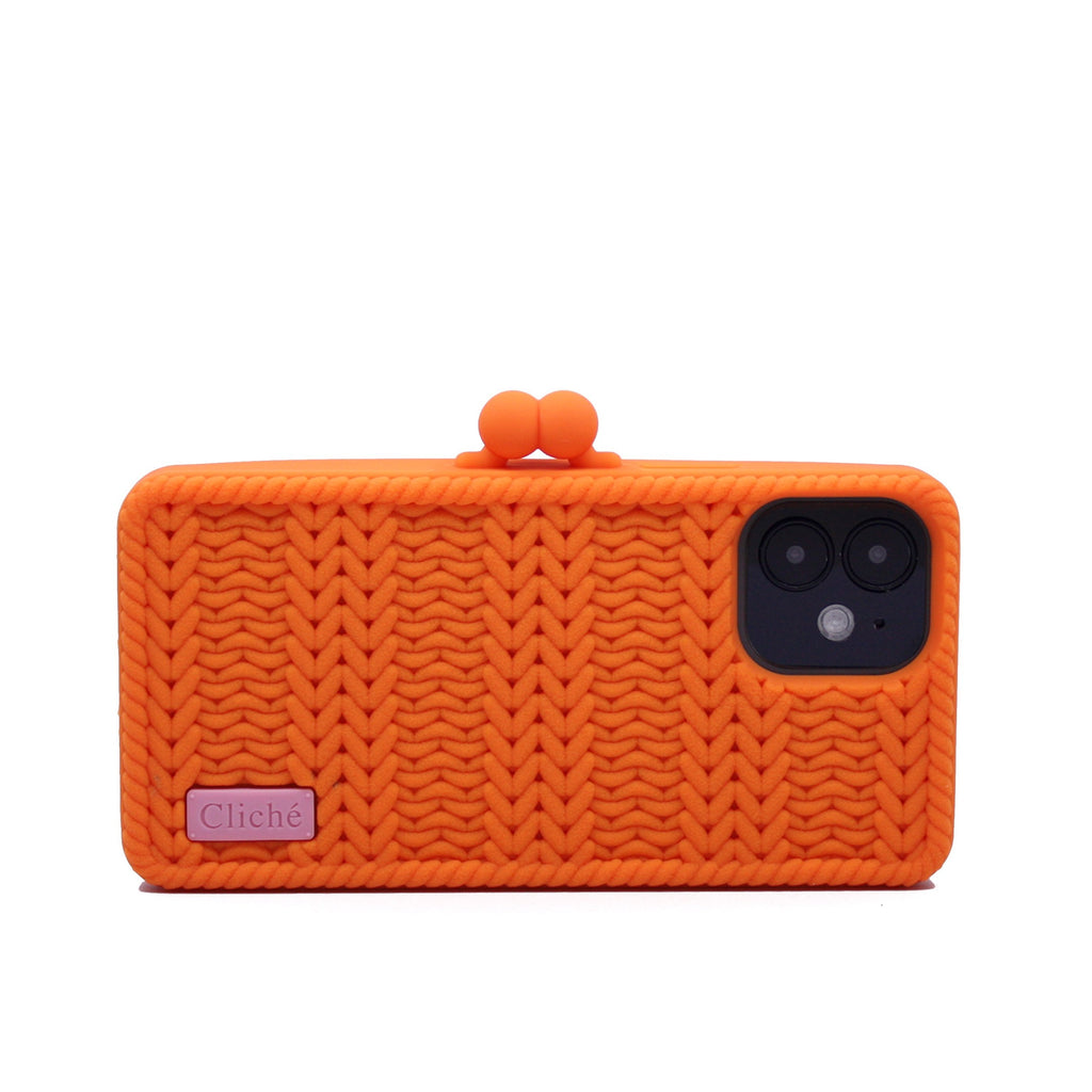 iPhone 12 Knitted Case (Orange)