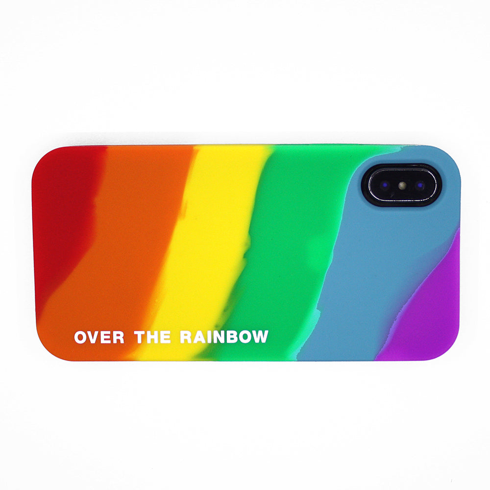 iPhone X Rainbow Simple Case - Over the Rainbow