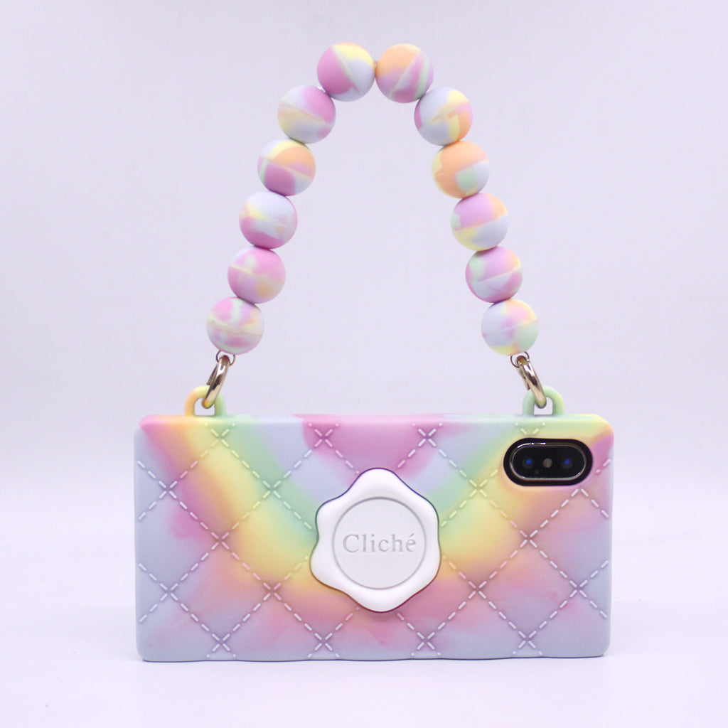 iPhone X/XS Tie Dye Beads and Seal Stamped Case