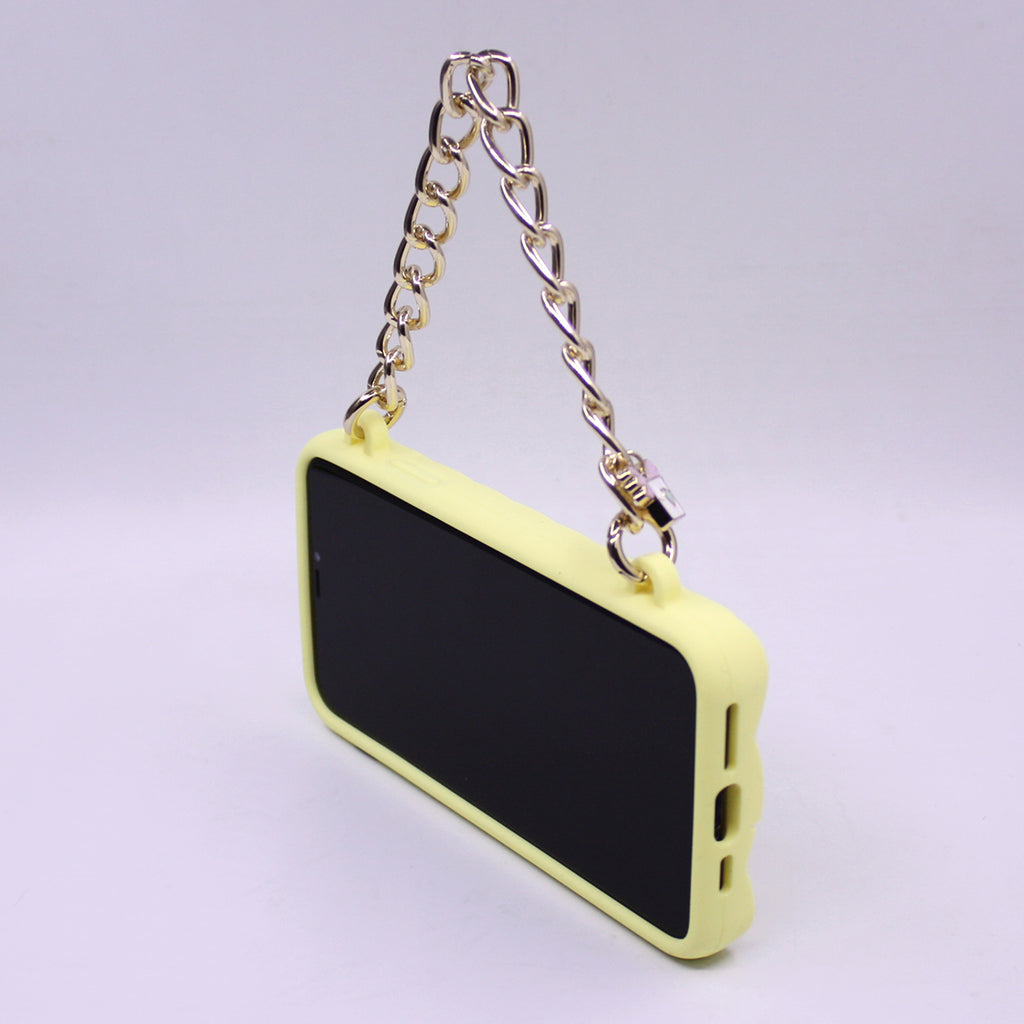 iPhone 11 Pro Max Yellow Little Seal Stamped Case with Angel's Message Charm