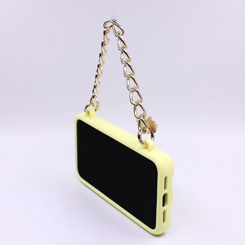 iPhone 11 Yellow Little Seal Stamped Case with Ribbon Charm