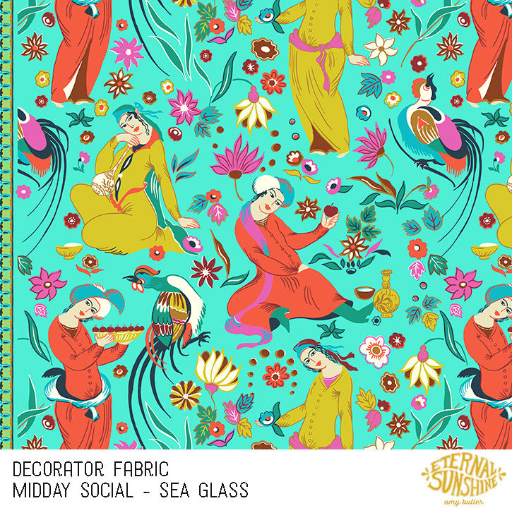 Midday Social Seagrass Decorator Fabric Selvage Fabrics Australia