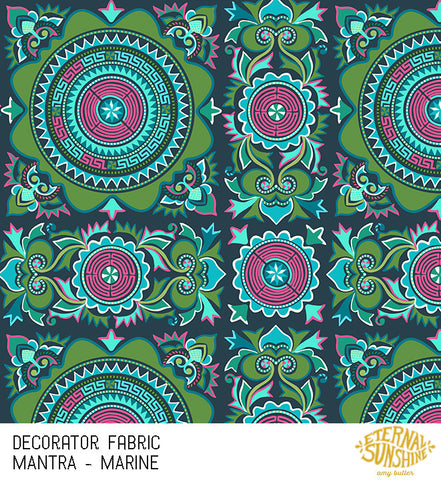 Amy Butler Decorator Sateen Mantra Marine