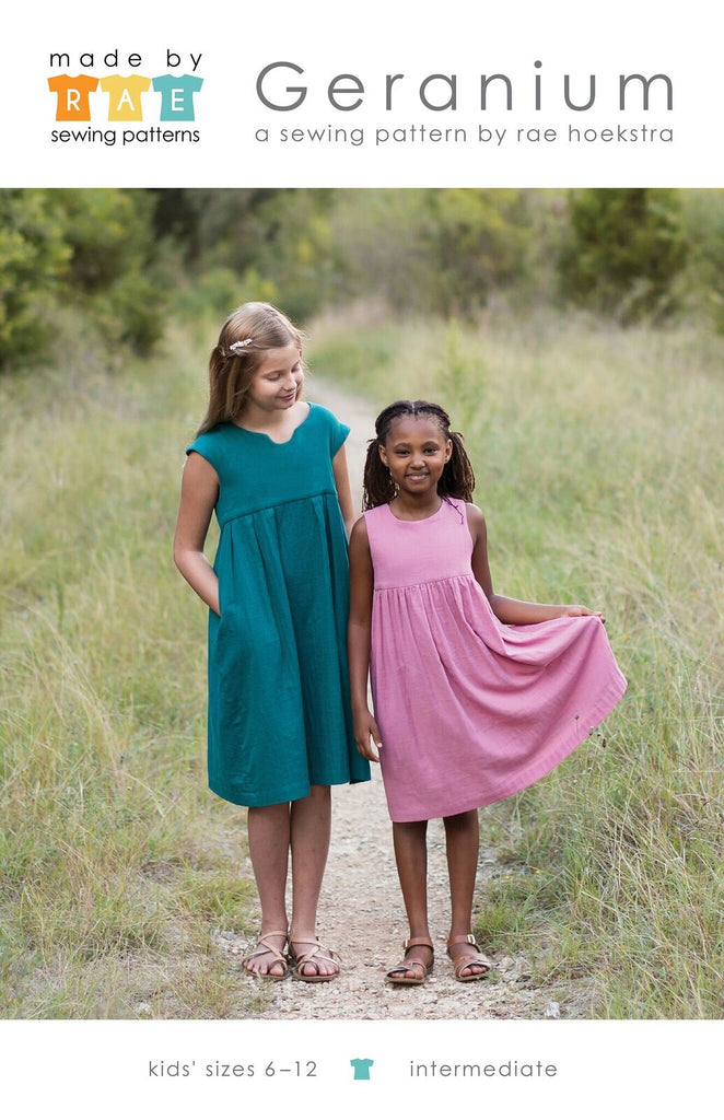 Geranium Dress (6 - 12 years)