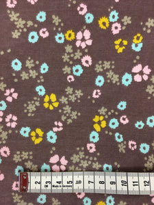 Scattered Floral Brown - Knit