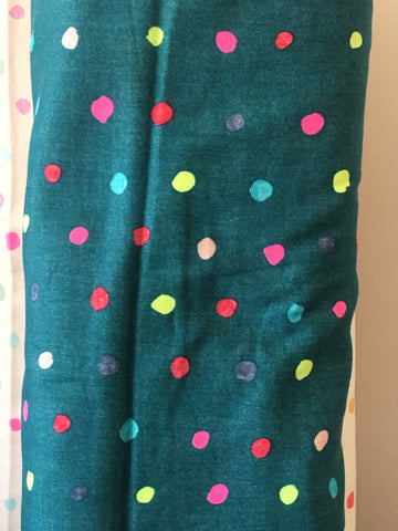 Nani Iro Colourful Poncho - Multi on Green