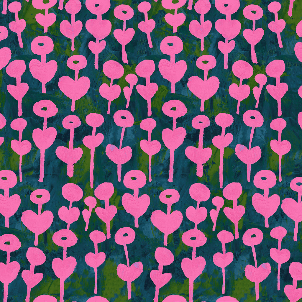 Once Upon A Time - Flowers Pink Cotton + Steel