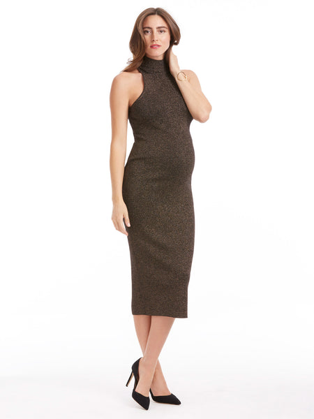 A.L.C. Marc Dress - Black / Apricot Metallic | TILDEN