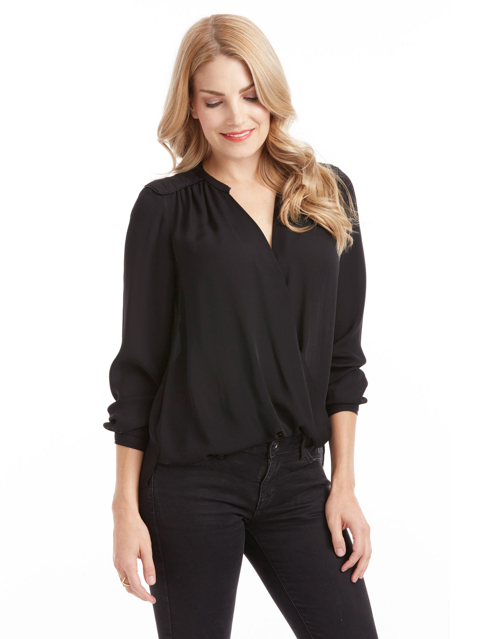 Rebecca Taylor Danielle Top - Black | TILDEN