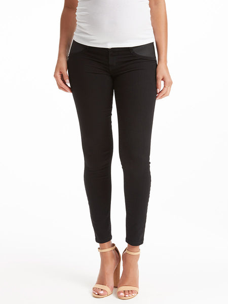 TILDEN | Current/Elliott Stiletto Maternity Jean - Jet Black