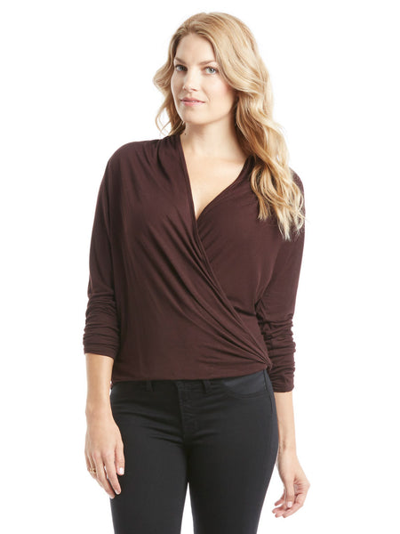 David Lerner Wrap Top - Oxblood | TILDEN