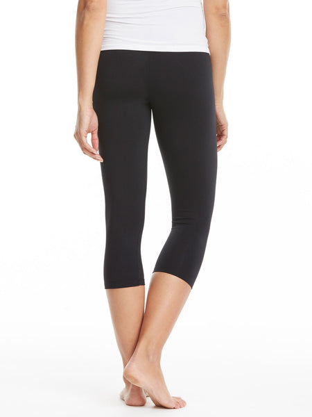 db394a5cdef27 David Lerner Cropped Maternity Leggings - Black | TILDEN