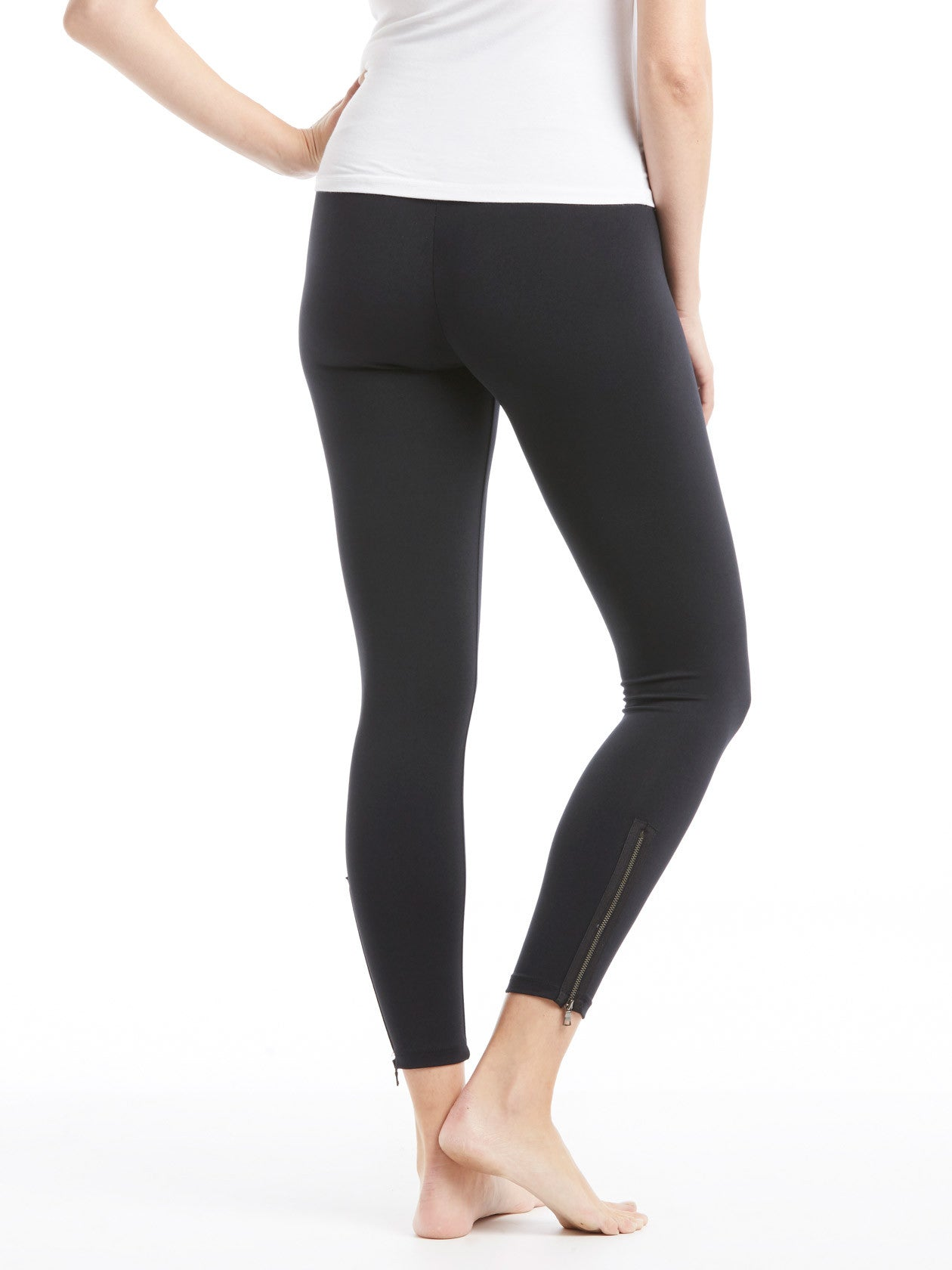 31d3ee6f1285e3 David Lerner Maternity Zipper Legging - Black | TILDEN