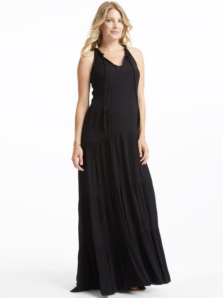 TILDEN | Ella Moss Tiered Maxi Dress - Black
