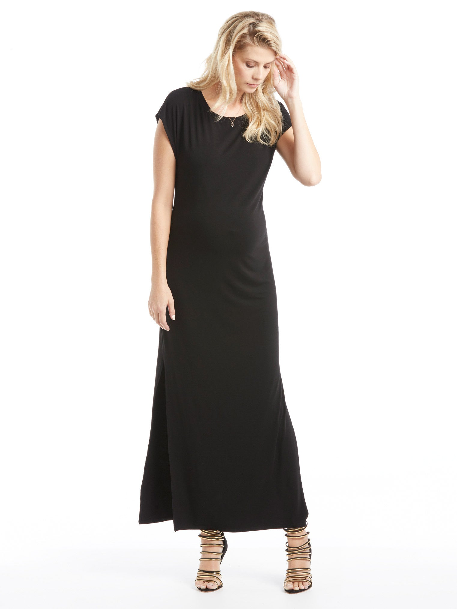 Enza Costa Easy Dress - Black | TILDEN