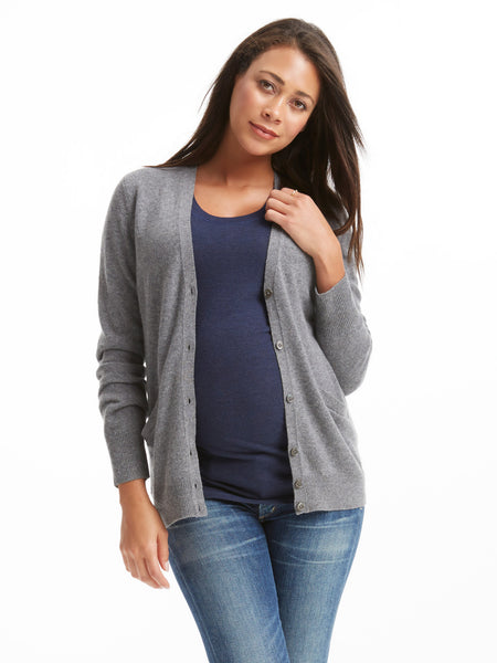 Equipment Sullivan Cashmere Cardigan - Light Grey Heather | TILDEN