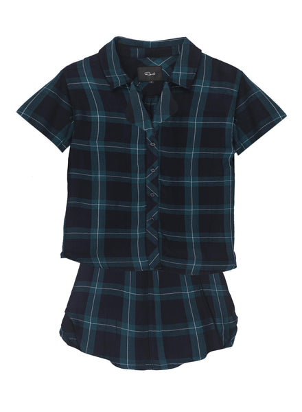 Rails PJ Short Set - Midnight Jade Plaid | TILDEN