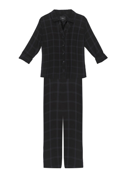 Rails PJ Set - Obsidian Plaid | TILDEN