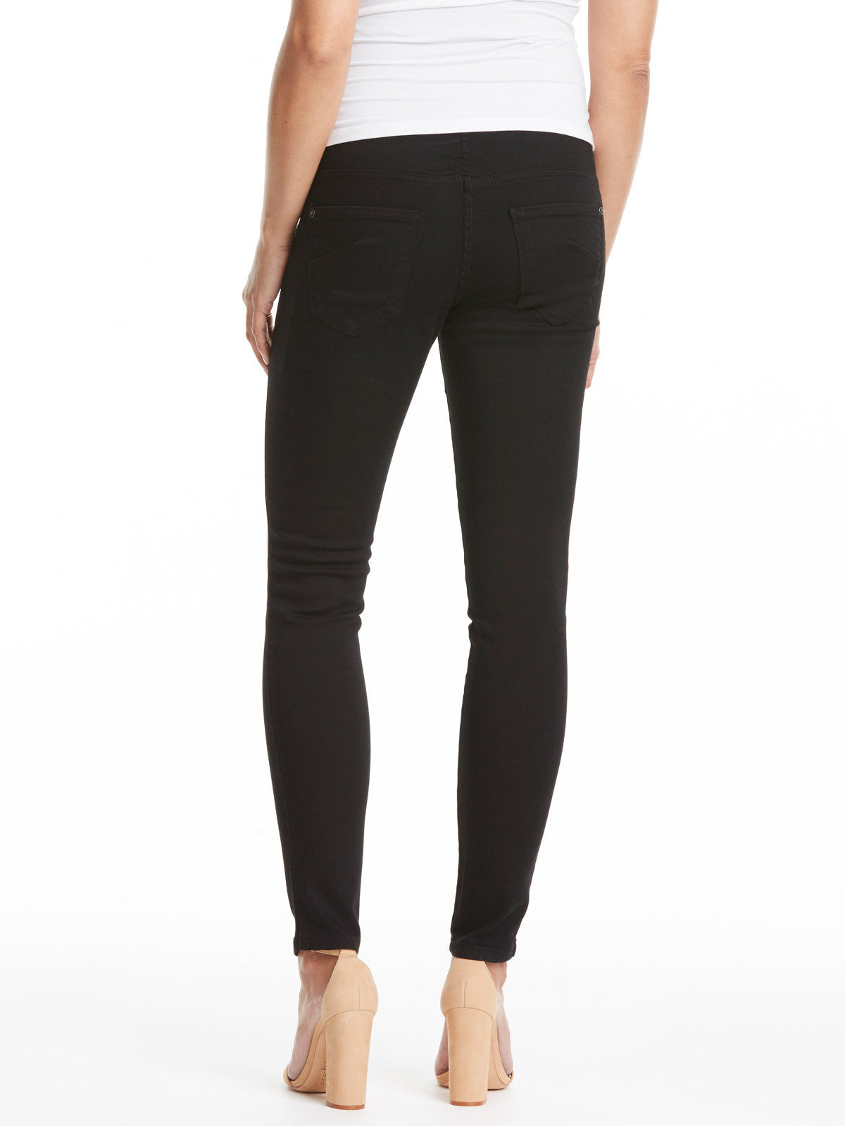 TILDEN | James Jeans Twiggy Maternity Jean with Belly Panel - Black Clean