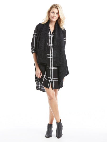 Rails Jackson Shirt Dress - Jet White Plaid | TILDEN