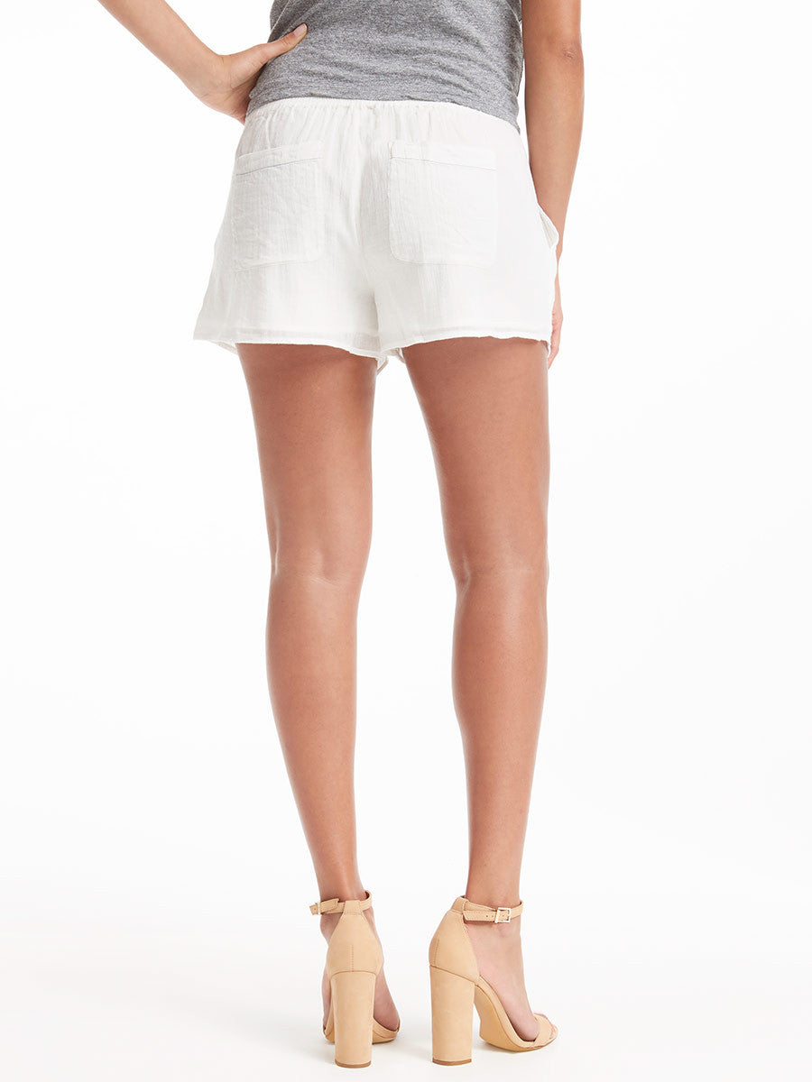 Joie White Linen Short | TILDEN