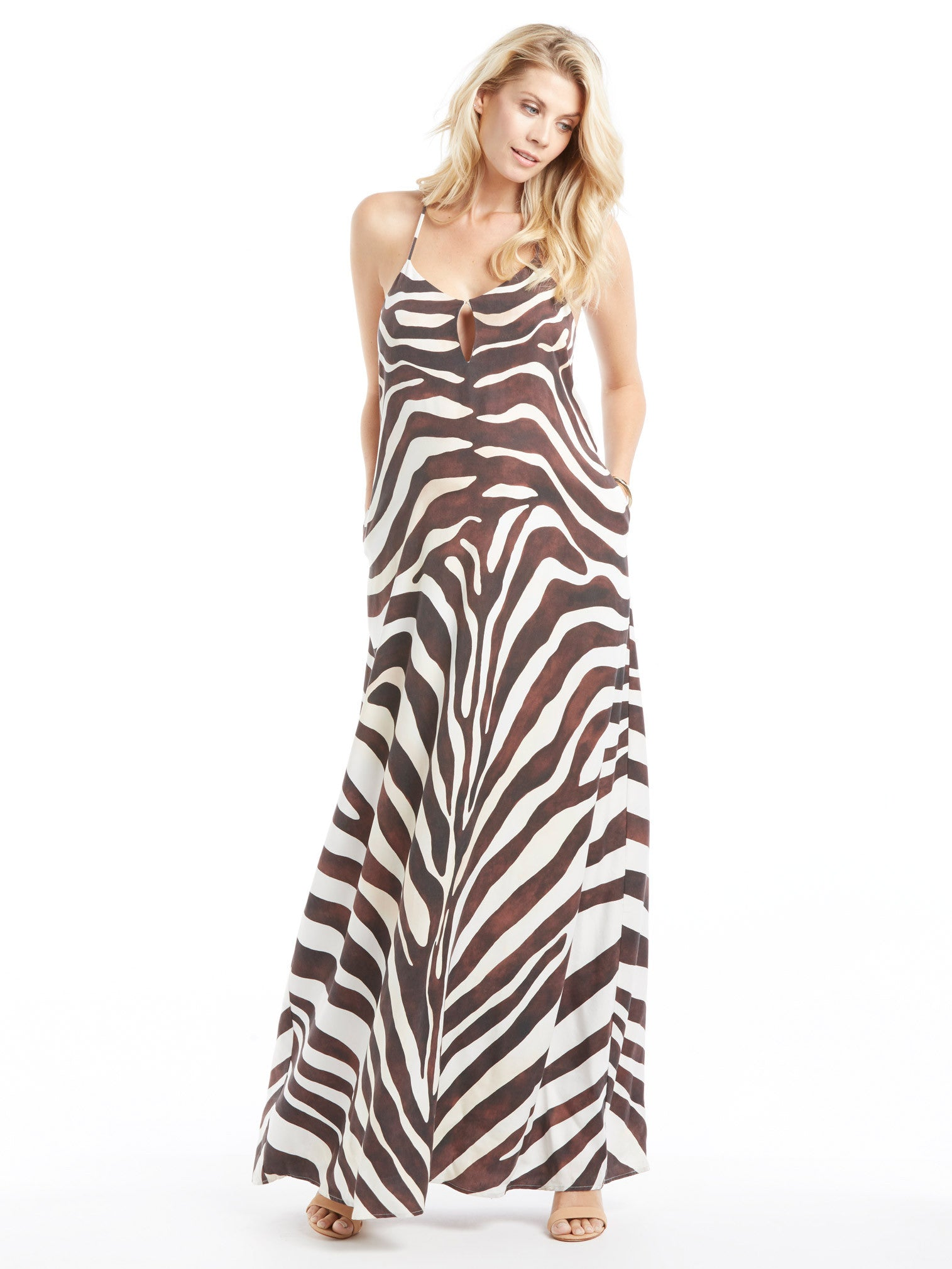 Mara Hoffman Zebra Maxi Dress | TILDEN