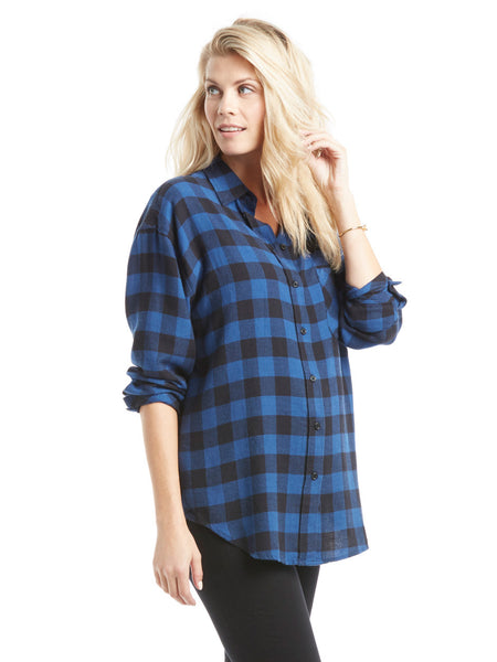 Rails Jackson Shirt - Blue Black Plaid | TILDEN