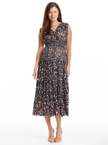 Rebecca Taylor Oleander Dress - Black Floral | TILDEN
