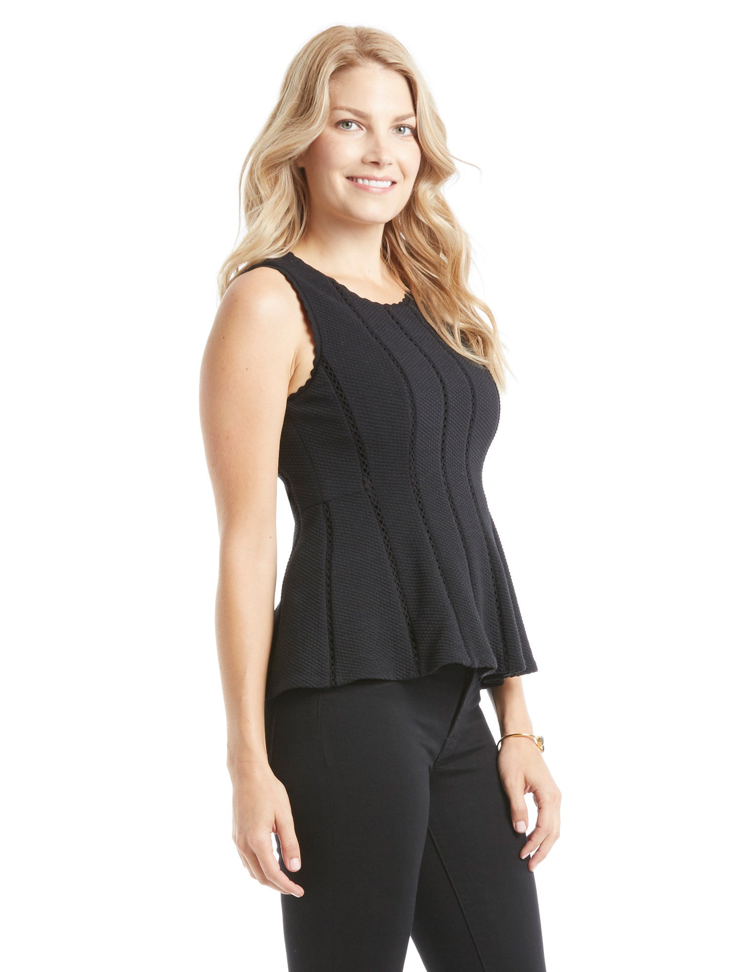 TILDEN | Rebecca Taylor Sleeveless Diamond Textured Top
