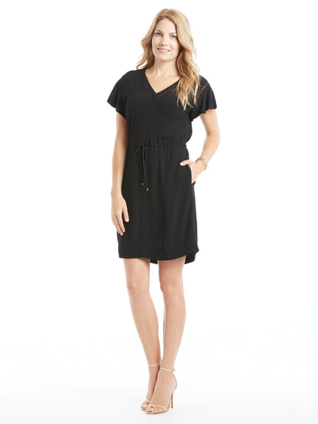 TILDEN | Rebecca Taylor Crepe V-Neck Dress