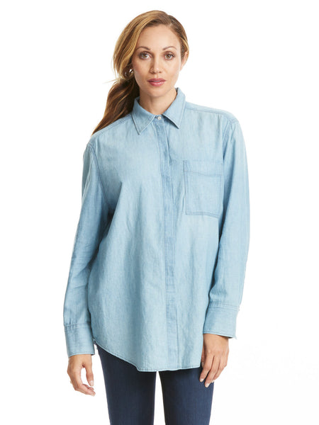 TILDEN | Vince Oversized Chambray Shirt