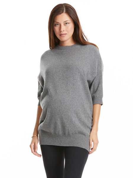 Vince Oversized Cashmere Sweater - Stone Heather