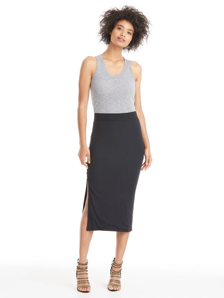 ATM Anthony Thomas Melillo Modal Rib Side Slit Skirt | TILDEN