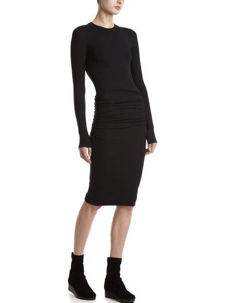 ATM Anthony Thomas Melillo Modal Rib Crew Neck Dress | TILDEN